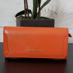 Burberry Patent Heritage Grain Continental Wallet